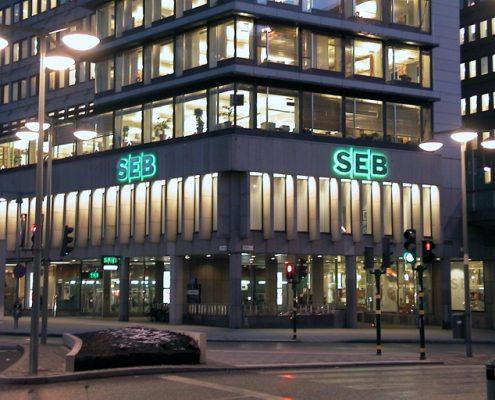 SEB LED-skylt