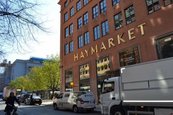 Haymarket by Scandic obelysta skyltar