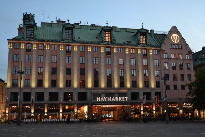 Haymarket by Scandic skyltar Stockholm