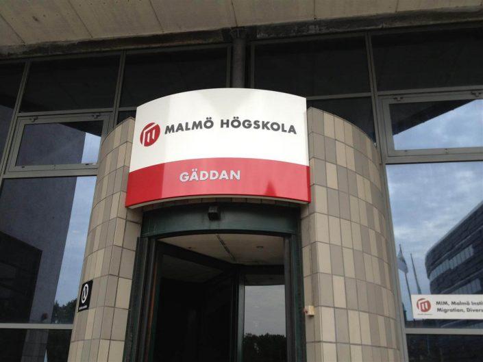 Malmö Högskola LED-skylt